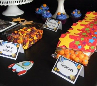 20 Fabulous Outer Space Birthday Party Ideas For Kids #outerspaceparty