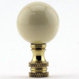 Porcelain Sphere Lamp Finial Ivory Lamp Finial Sphere Lamp Finials