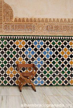 Court Of The Myrtles The Alhambra In Granada Spain Tiles Moorish Architecture Tile Patterns