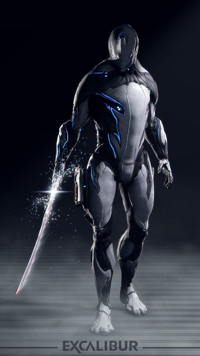 Excalibur Poster And Widescreen Wallpaper Warframe Art Warframe Wallpaper Futuristic Art
