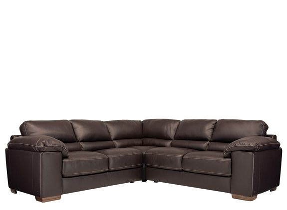 Cindy Crawford Maglie 3 Pc Leather Sectional Sofa Raymour