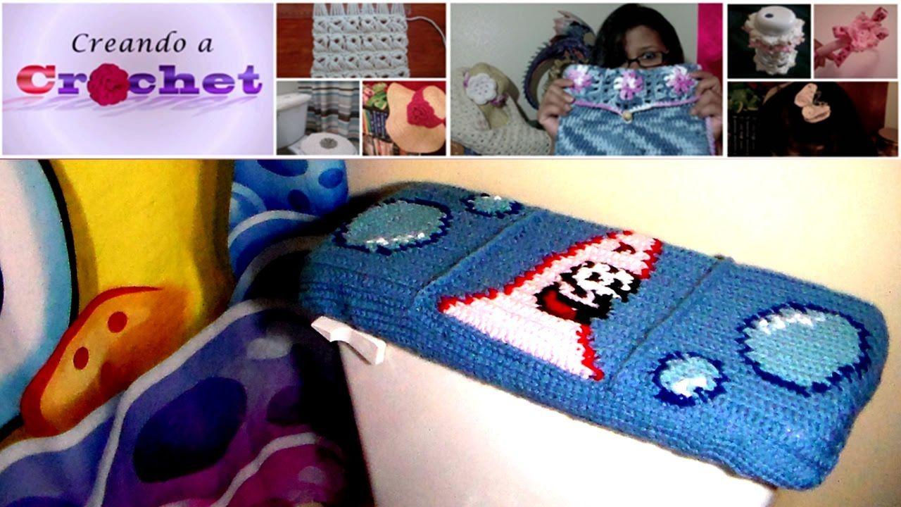 Tutorial de Cubierta para la Tapa del Tanque del Inodoro en Crochet ...