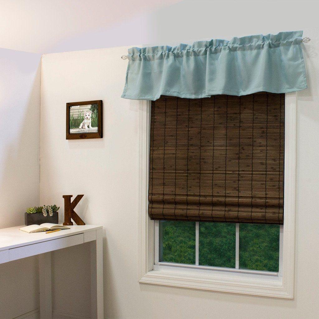 Radiance Cordless Cocoa Dockside Flatstick Bamboo Roman Shade As