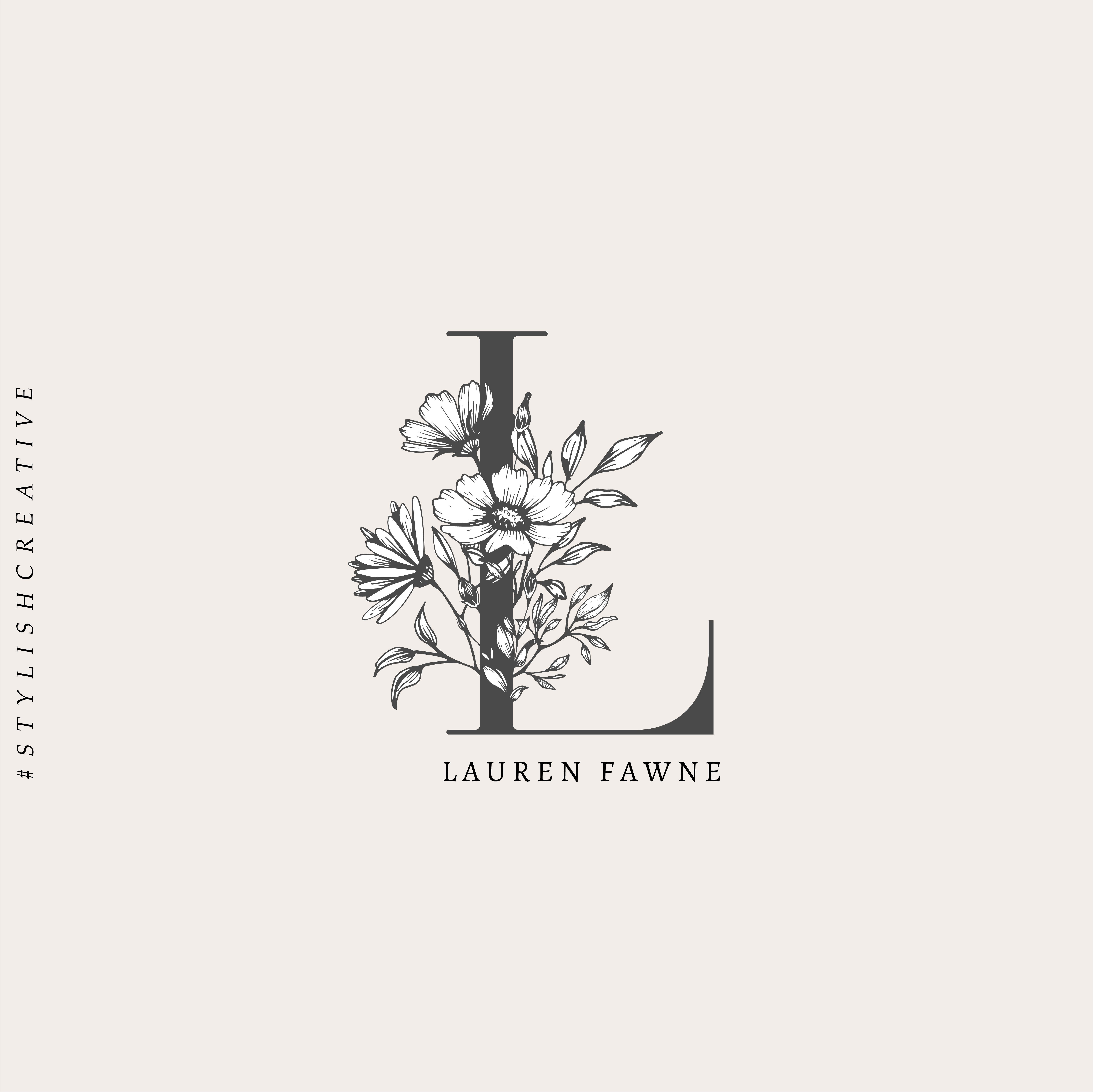 logo, floral, flowers, botanical, minimalist, minimalism