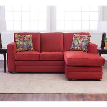 Brilliant Beeson Fabric Queen Sleeper Reversible Sectional Tomato Ncnpc Chair Design For Home Ncnpcorg