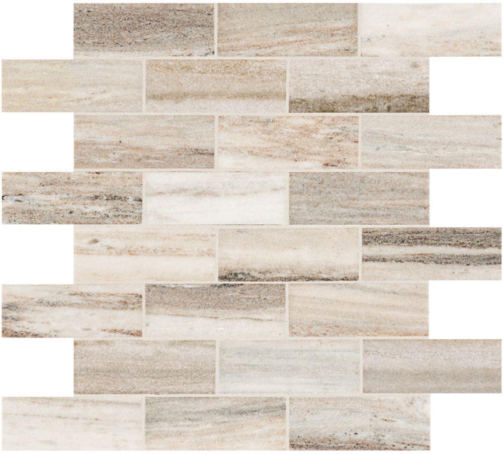 Toscana 1 5 Inch X 4 Inch Brick Polished Marble Mosaics In 2020 Marble Mosaic Marble Look Tile Tile Stained