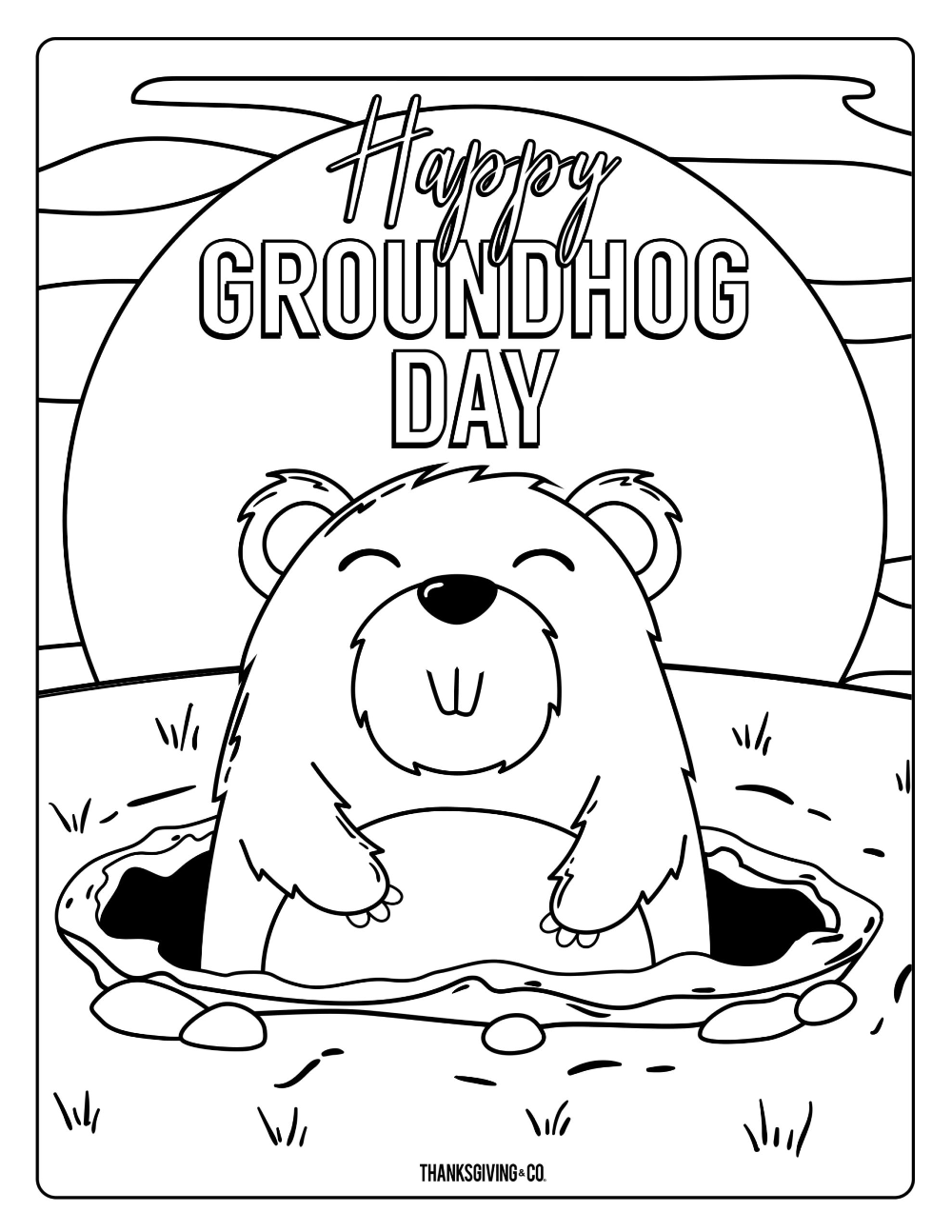Groundhog Day Coloring Pages For Kids In 2021 Memorial Day Coloring Pages Coloring Pages For Kids Groundhog Day [ 1294 x 1000 Pixel ]