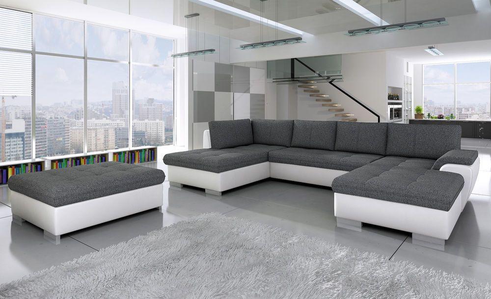 Couchgarnitur Tokio Maxi Hocker Sofa Couch Polsterecke Wohnlandschaft Grey Corner Sofa Grey Corner Sofa Bed Corner Sofa Bed