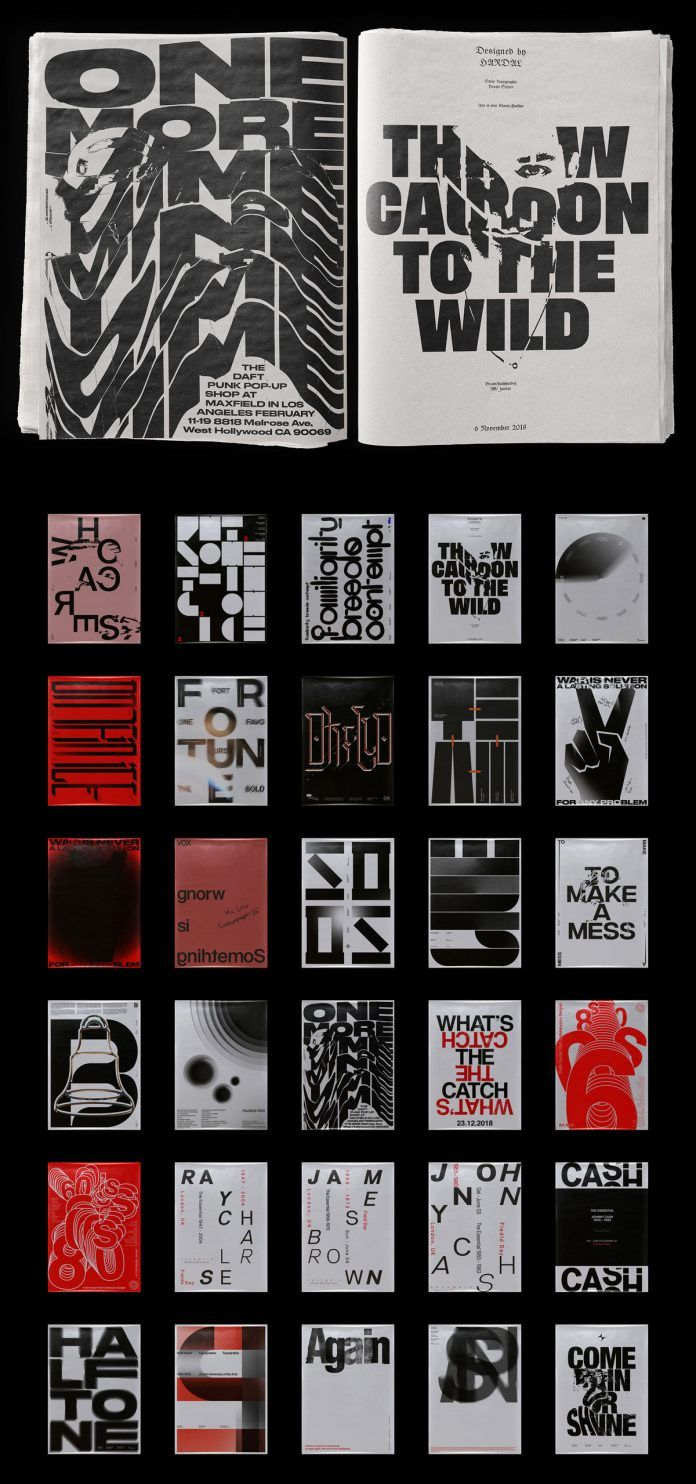 Thirty Typographic Poster Designs by Fatih Hardal #posterdesigns