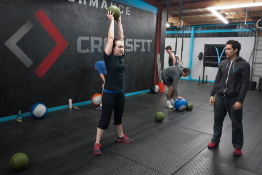 This Is A Rebranding Of The Crossfit Bartlett Gym The Owner Was Wanting Something New Current And Something That Would Make His Crossfit Gym Ball Exercises