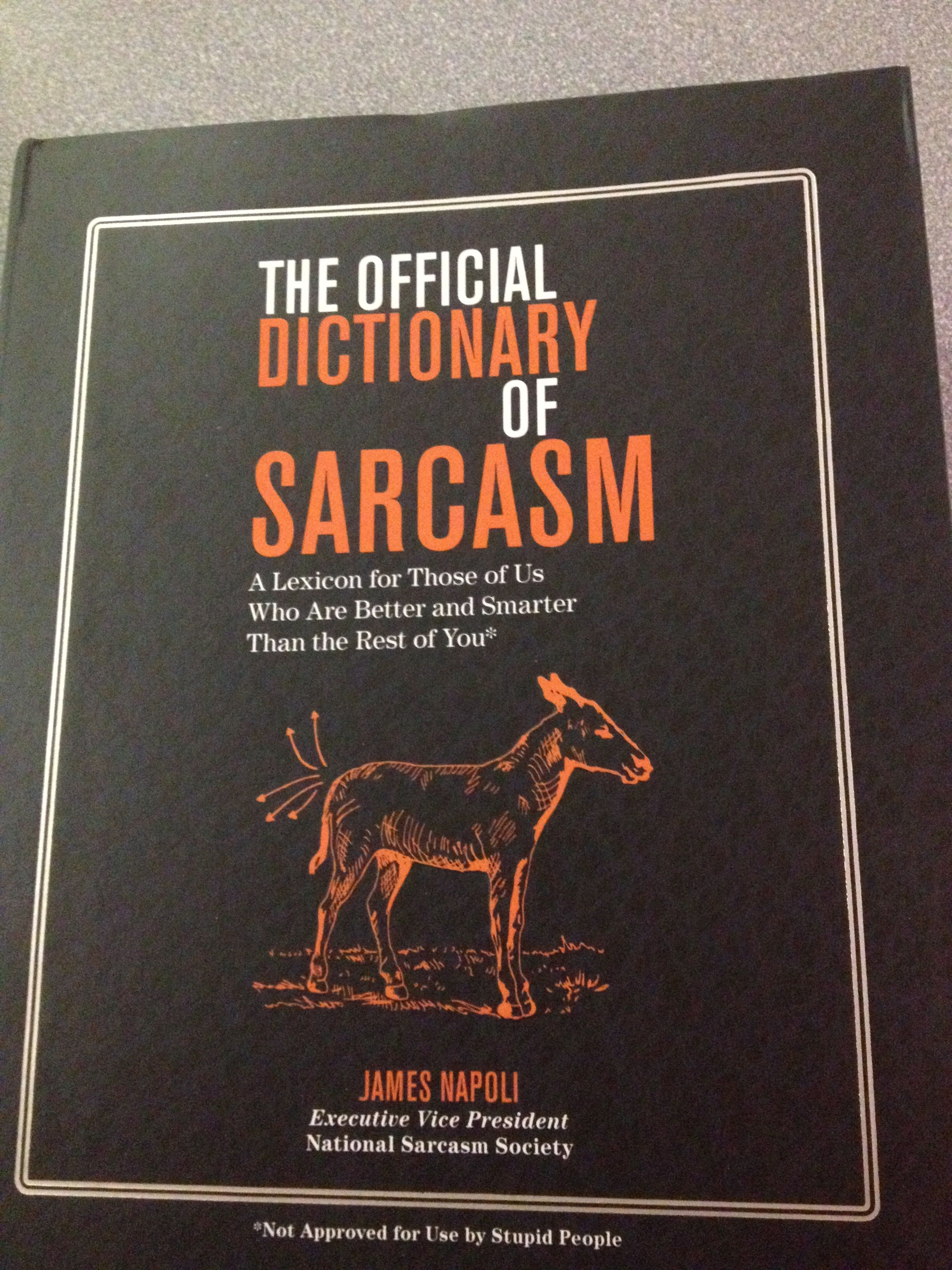 The Official Dictionary Of Sarcasm Gift From My Roommate