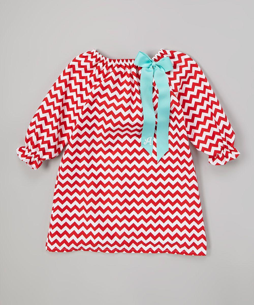 Chevron girls dress