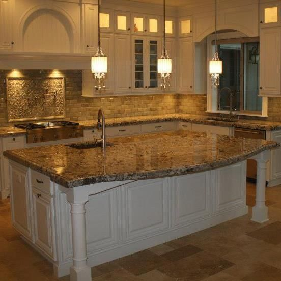 Granite/Natural Stone Slab Kitchen Countertops. Ogee Edge