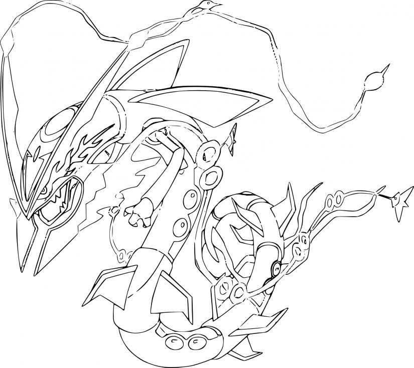 Coloriage Mega Rayquaza Pokemon Coloriage Pokemon Coloriage