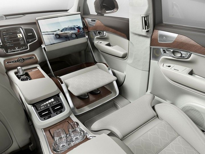 Volvo XC90 Excellence Lounge Console interior concept.....Holy Geeez ...