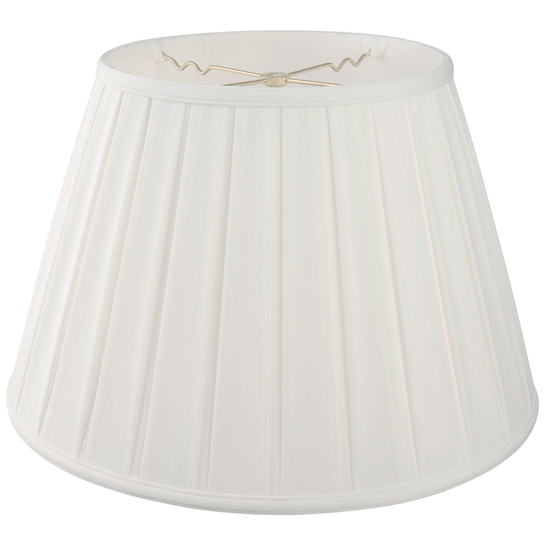 Royal Designs Empire English Pleat Basic Lamp Shade, White