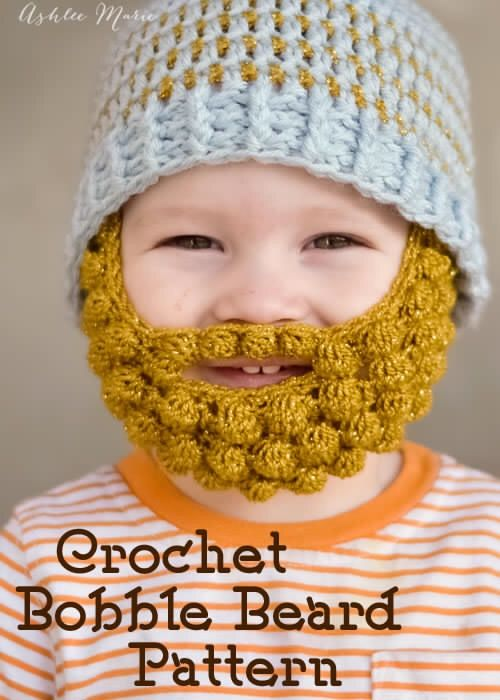 Bearded Beanie Crochet Pattern These Bearded Beanies Are Very