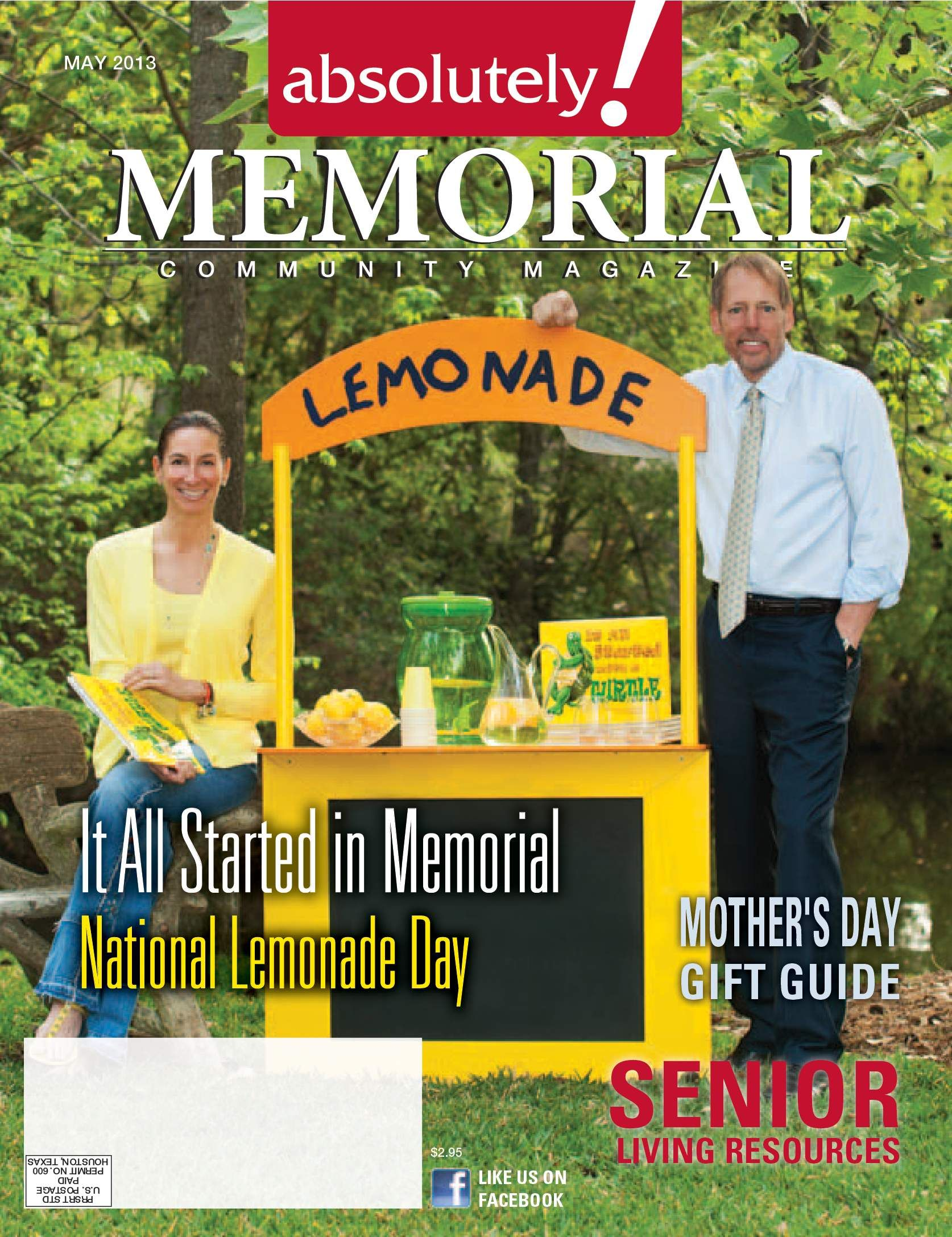 Thank you Absolutely Memorial Magazine! Read all about Lemonade Day and It All Started with a Turtle in the May issue of Absolutely! Cover