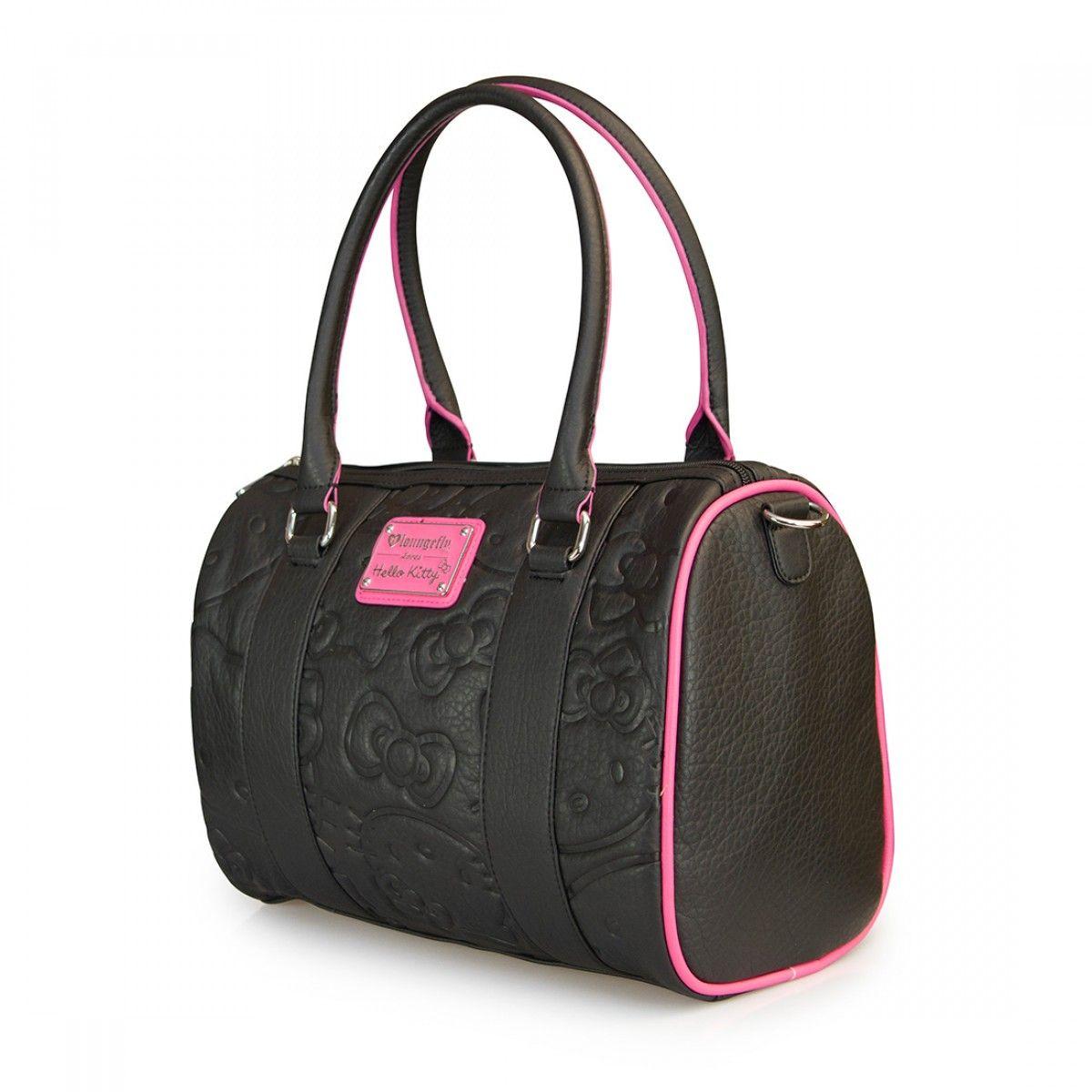 4c4401c8b0 Hello Kitty Black Pink Embossed Duffle Bag - Hello Kitty - Brands ...