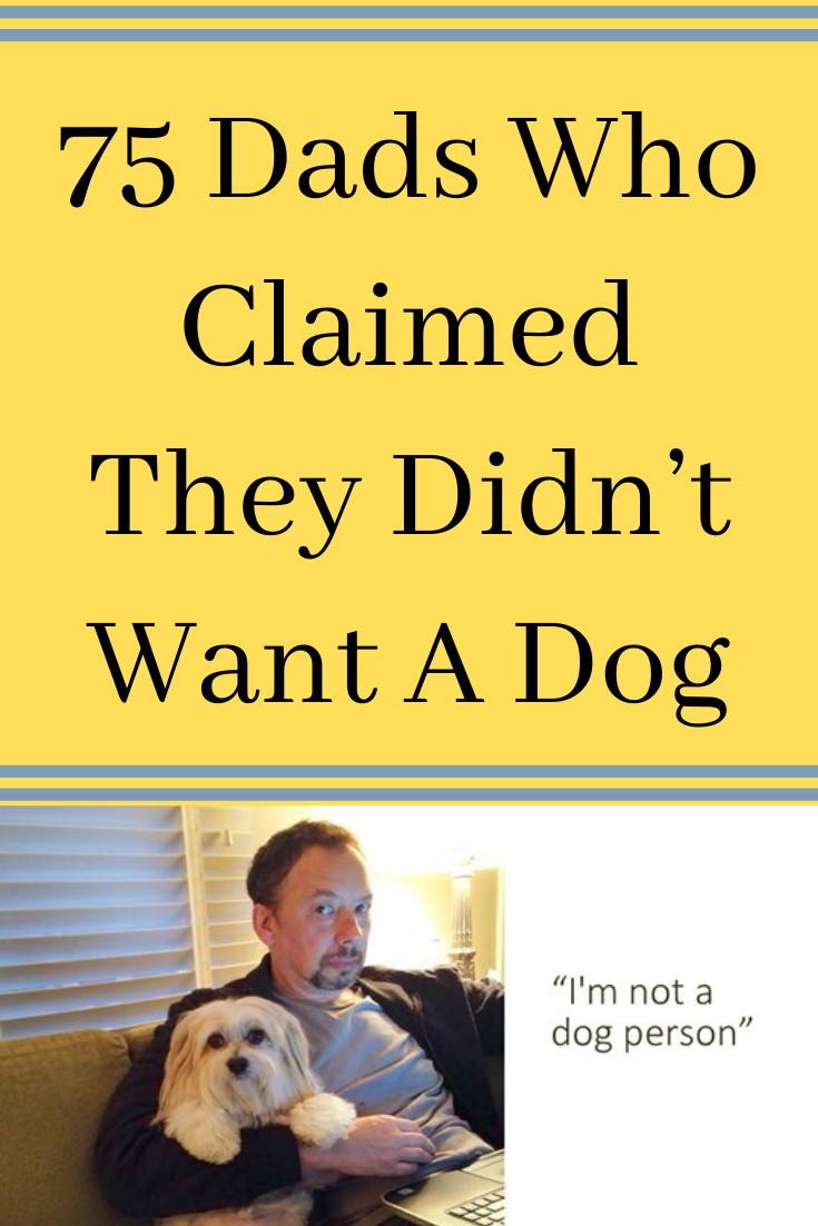 75 Grumpy Dads And The Dogs They Said They Didn T Want Dogs Dads Dog Dad