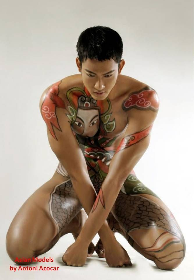 body-paint-models-nude-male
