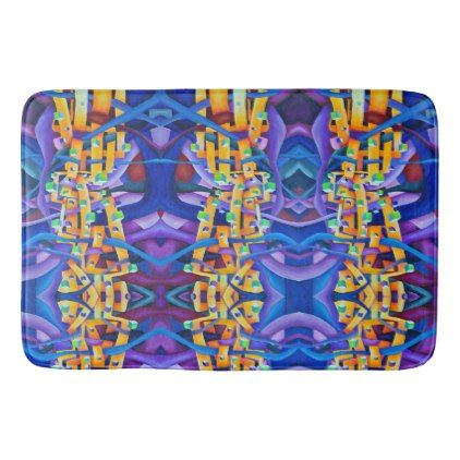 #Art Deco pattern - rainbow abstract Bathroom Mat - #Bathroom #Accessories #home #living