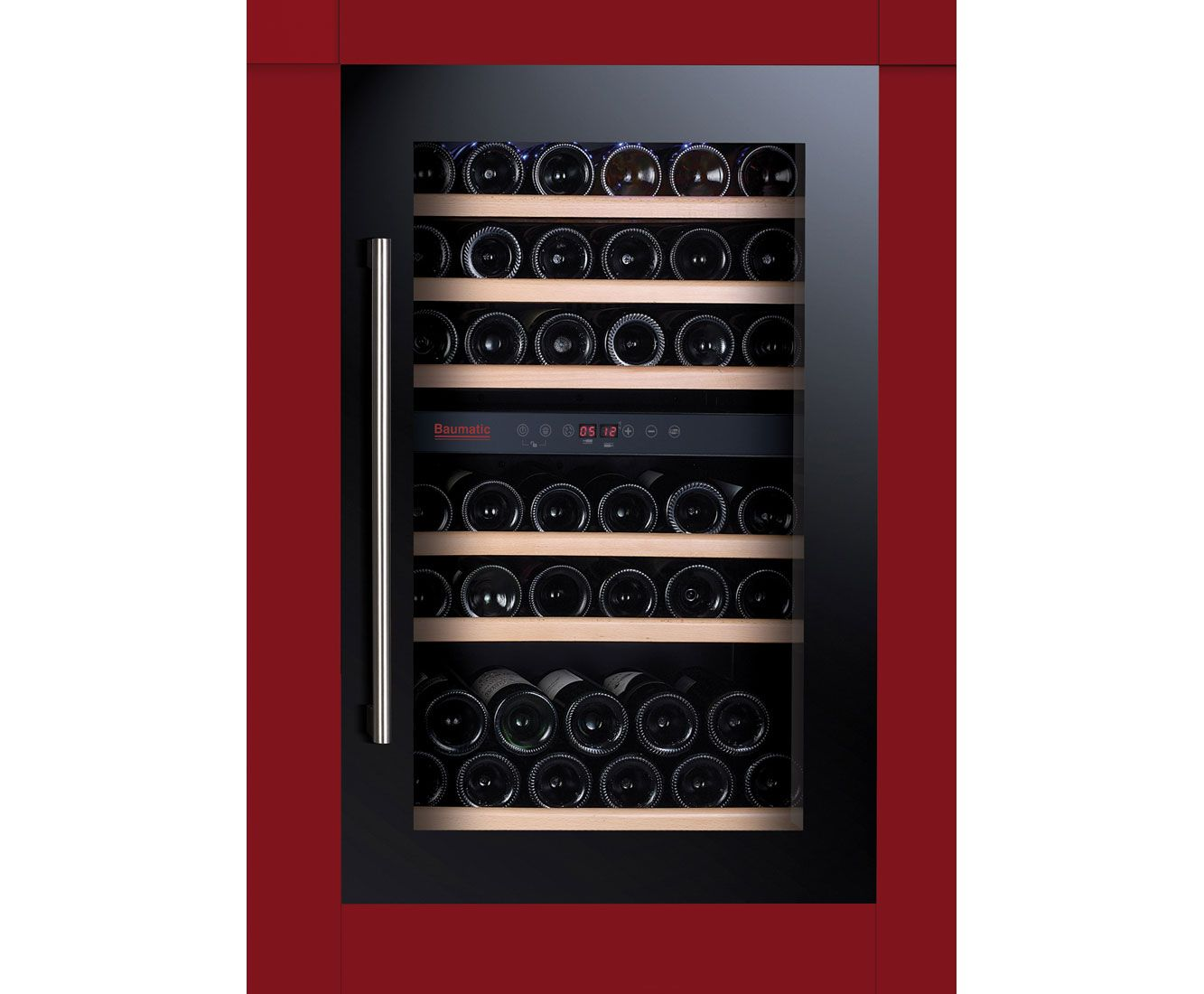 Baumatic Bwc885bgl Built In Wine Cooler Black Built In Wine Cooler Integrated Wine Cooler Wine Cabinets