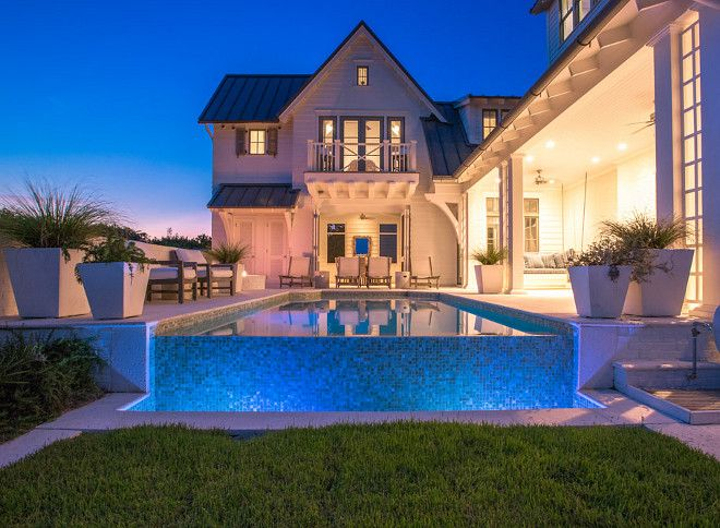 Beach House With Airy Coastal Interiors Home Bunch An Interior Design Luxury Homes Blog Infinity Pool Backyard Backyard Pool Backyard