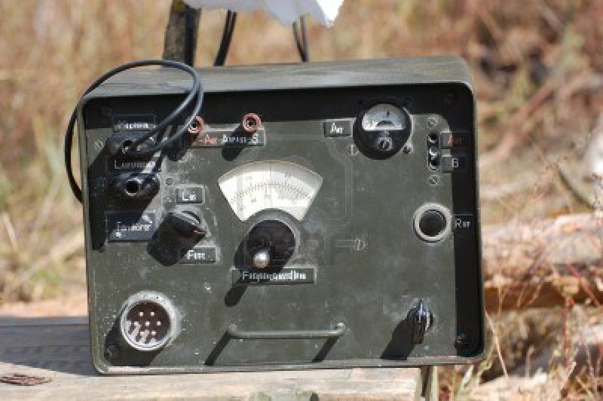 Stock Photo Military Old Technology Ham Radio