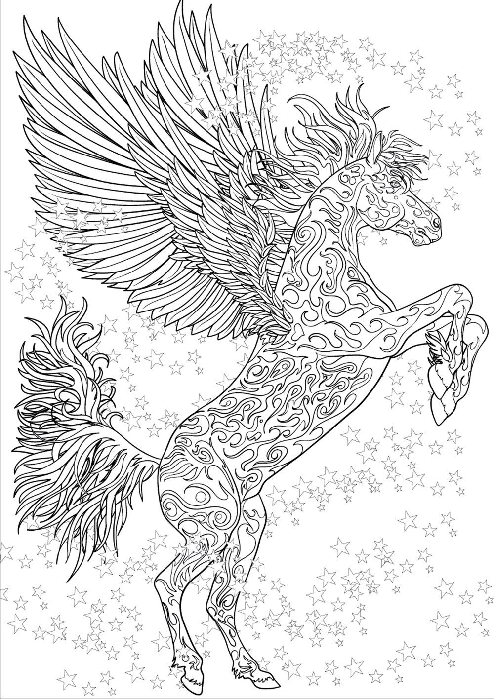 coloring pages horse printable coloring book by valrart