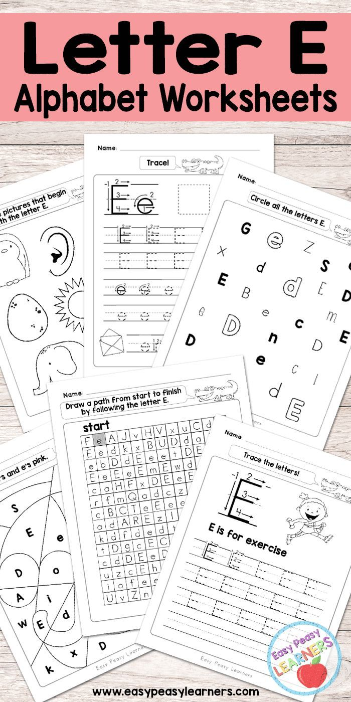 Free Printable Letter E Worksheets Alphabet Worksheets Series