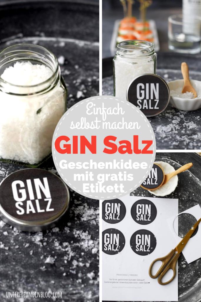Ginsalz – selbstgemacht! DIE Geschenkidee für Gin Fans! Mit Freebie Etiketten für Gin-Geschenke