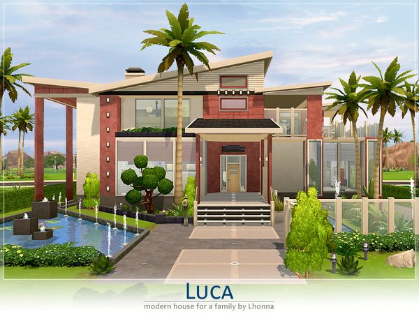 The Sims Resource Luca residential house by Lhonna Sims 4