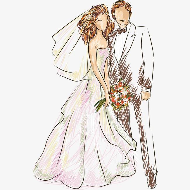 Свадебная открытка векторный клипарт, картинки рабочий стол