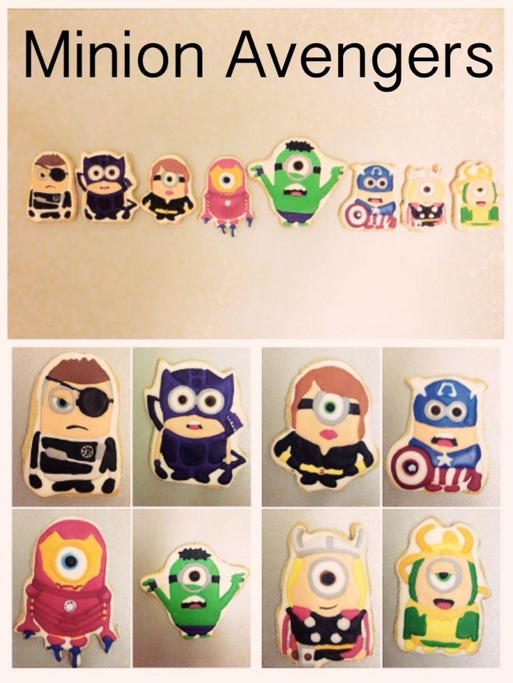 Minion Avenger Cookies Minions Pinterest Minion avengers