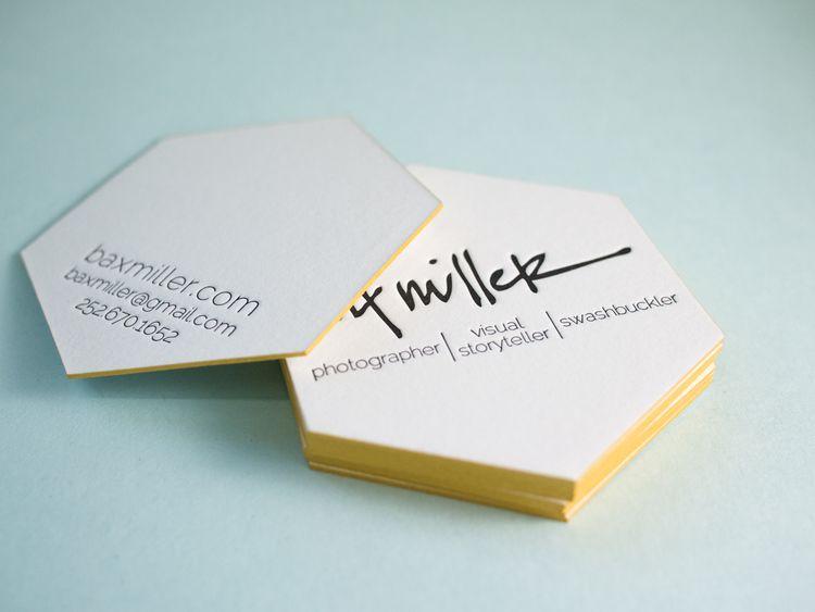 A Golden Hex Business Card Design Letterpress Business Cards Business Card Inspiration