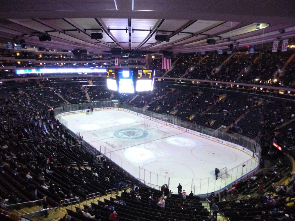 Madison Square Garden Ice Hockey Match Madison Square Garden Madison Square Hockey