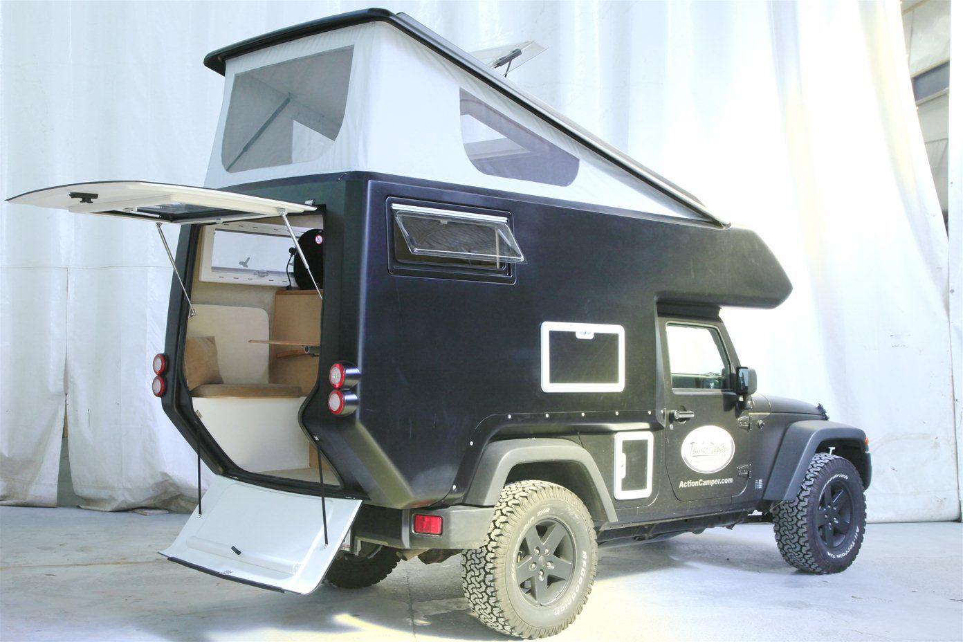 jeep actioncamper expedition ready slide on camper. Black Bedroom Furniture Sets. Home Design Ideas