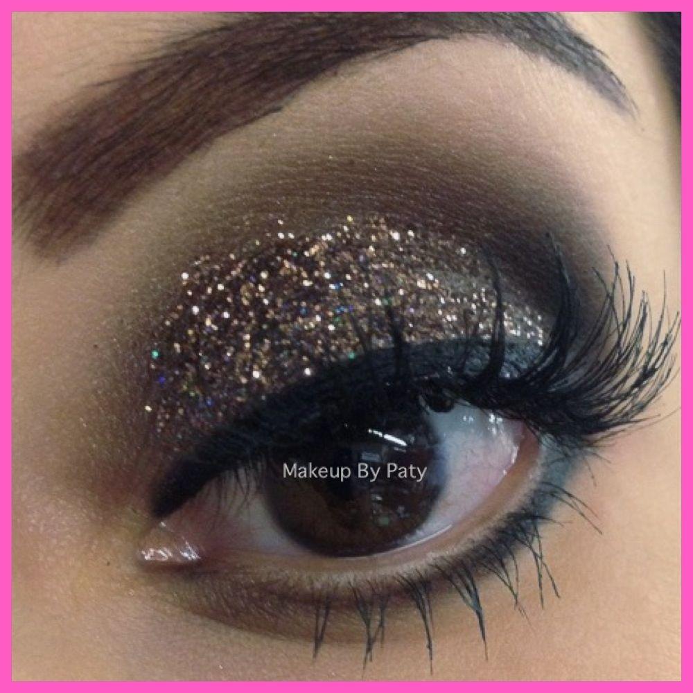 Glitter Eye Makeup For Brown Eyes | Beauty Tips | Pinterest