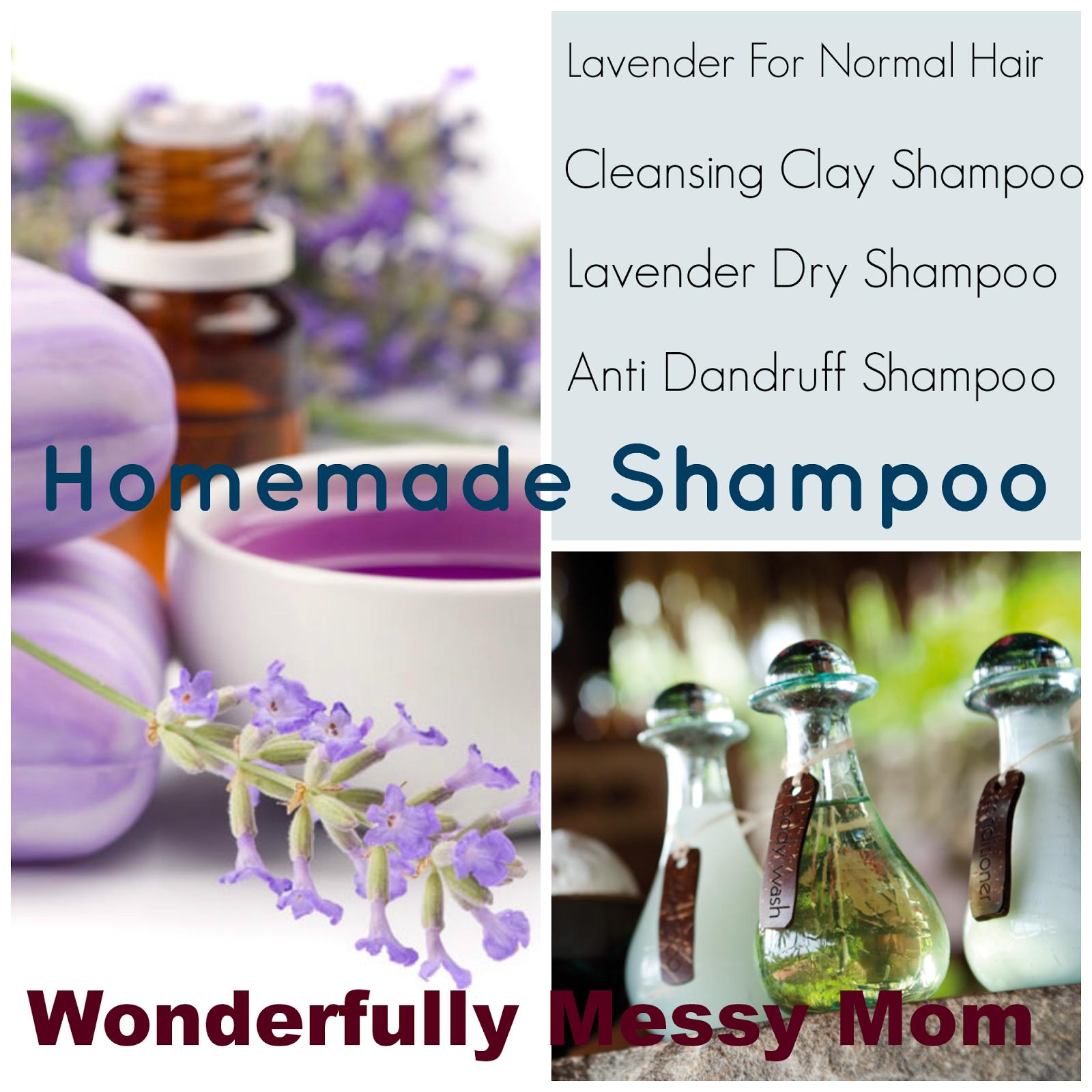 homemade shampoo~ lavender dry shampoo, anti dandruff shampoo; easy