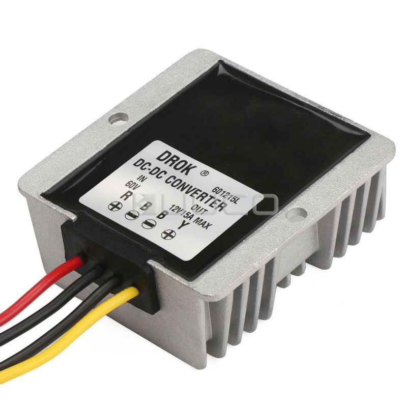 Car Converter Dc 60v 20v 72v To 12v 15a 180w Buck Power Supply Module Power Adapter Voltage Regulator Driver Modu Voltage Regulator Converter Power Converters
