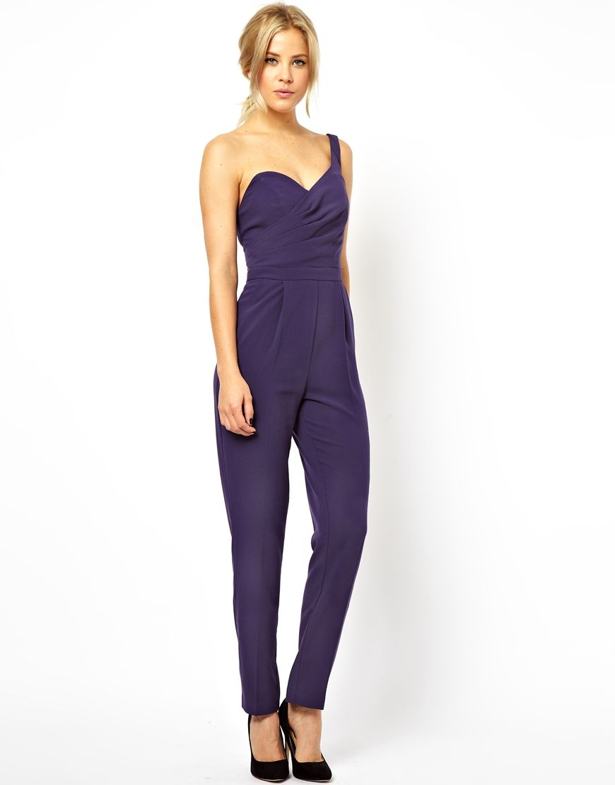 ASOS Jumpsuit with One Shoulder and Open Back | asos. | Pinterest ...