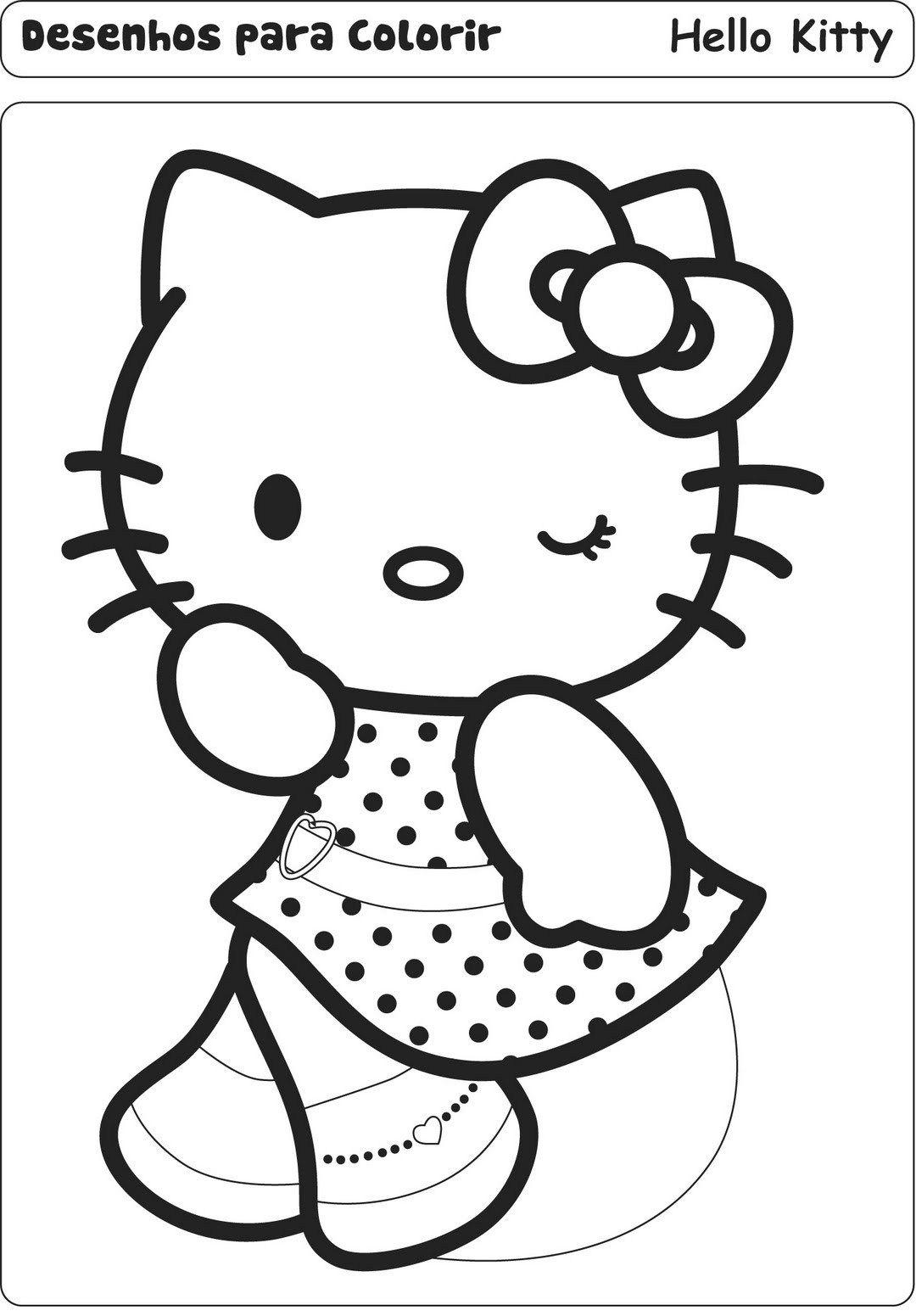 Resultado De Imagem Para Desenho Para Colorir Hello Kitty Coloriage