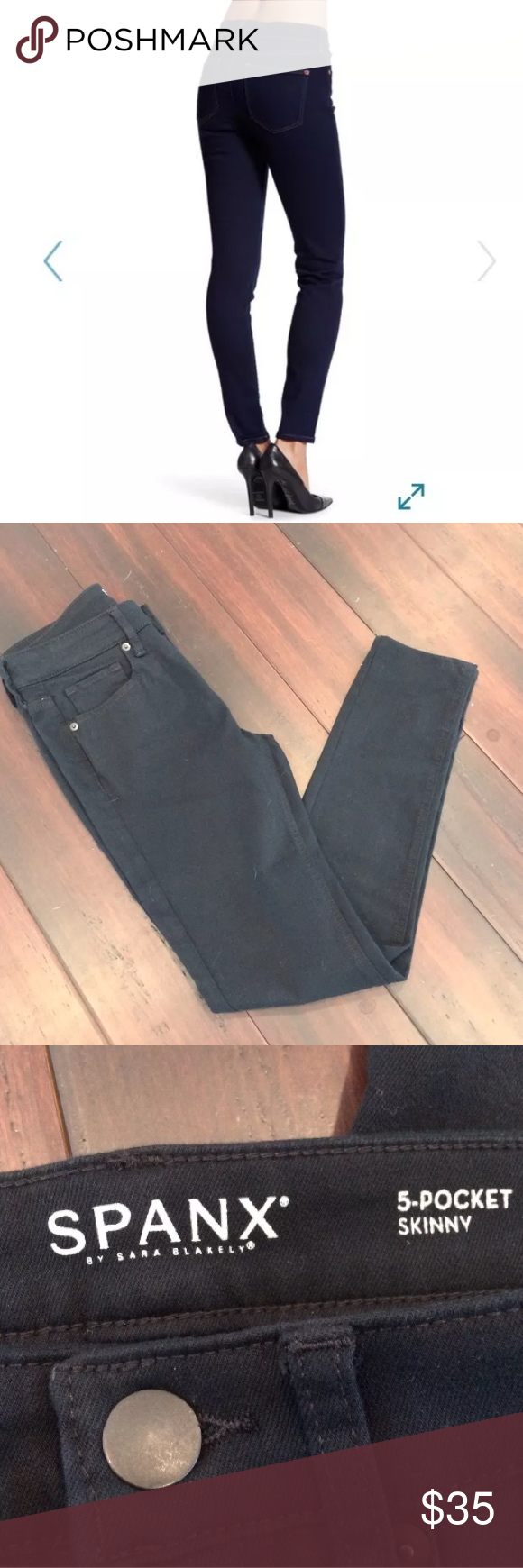 SPANX Sara Blakely 5 pocket Skinny Jeans Excellent condition, clean and smoke free home, never worn, no wears/stains/holes SPANX Pants Skinny