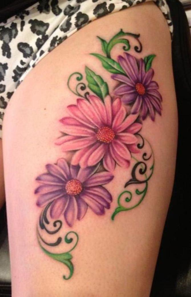 Daisy Tattoo Designs, Leg Tattoos