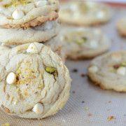 White Chocolate Pistachio Cookies (recipe via www.thenovicechefblog.com)