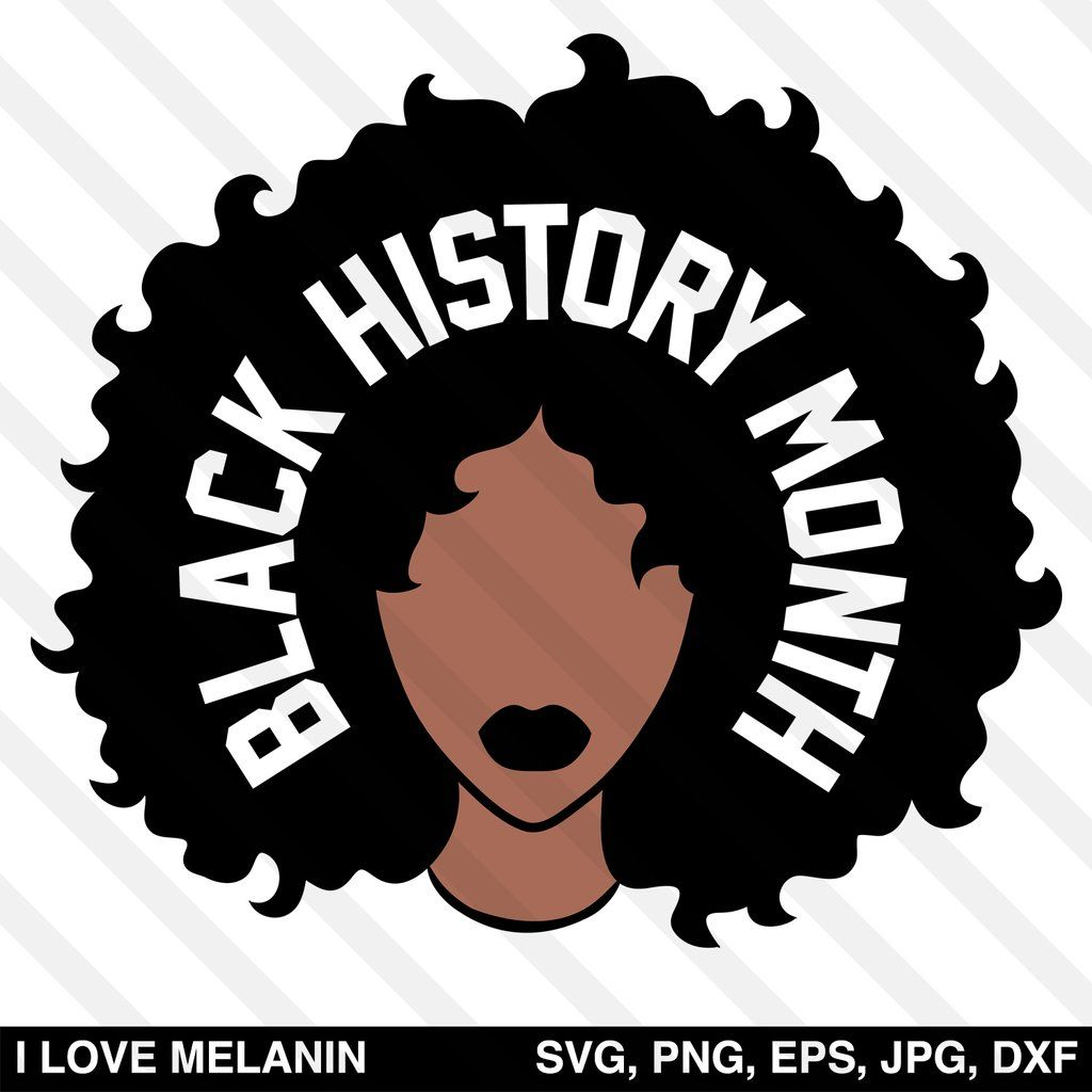 Photo of Black History Month Afro Woman SVG
