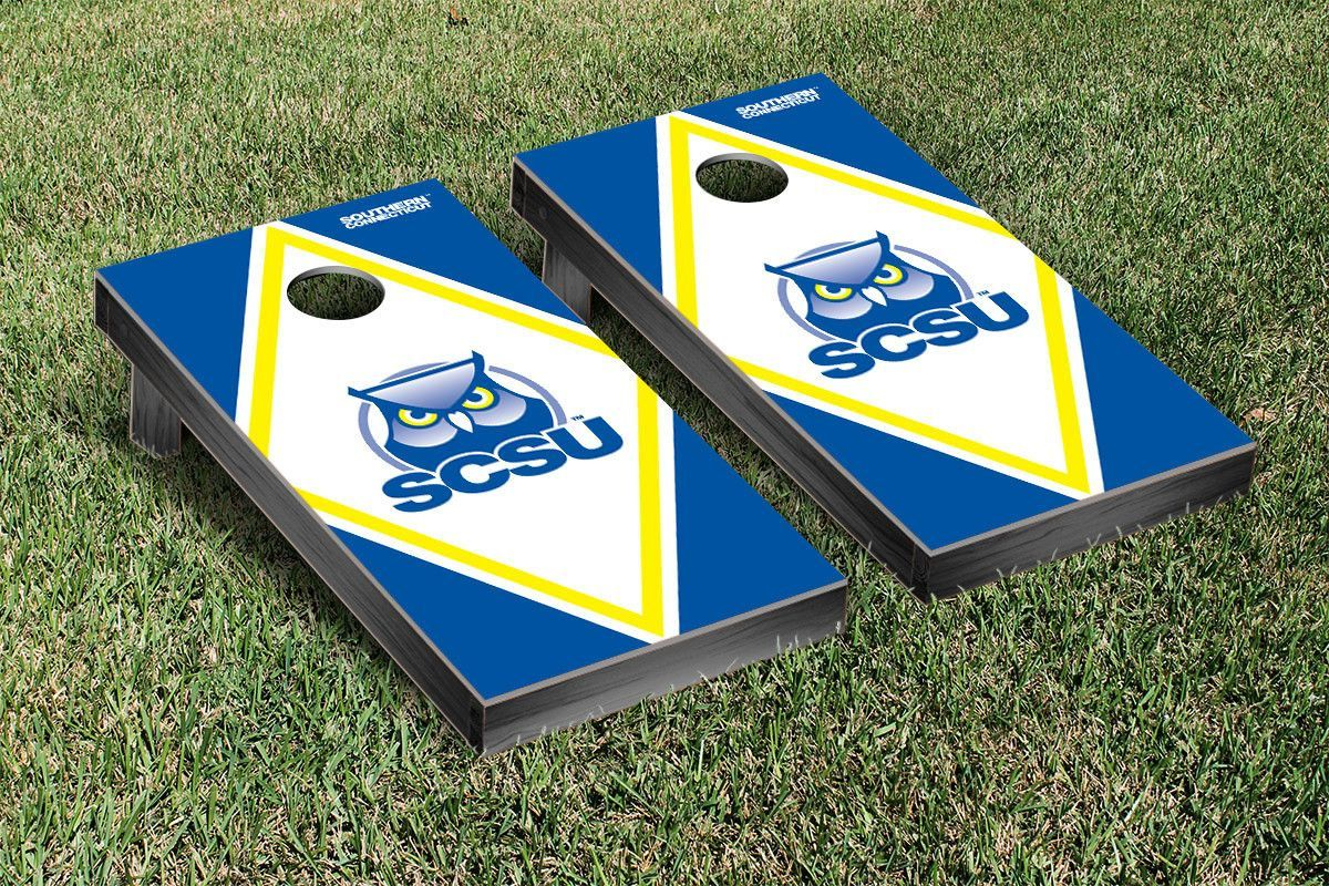 Southern Connecticut State Owls Diamond Cornhole Bag Toss Game