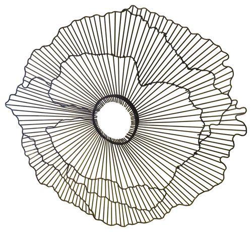 Modern 15 Wire Flower Wall Art Metal
