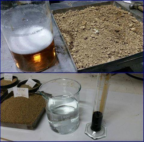 LACOTEC haciendo pruebas de estabilización de suelos mediante enzimas. Utilizando extractos de plantas naturales, que contienen productos de un proceso metabólico microbial (mediante el uso de la tecnología de la fermentación), incluyendo enzimas.